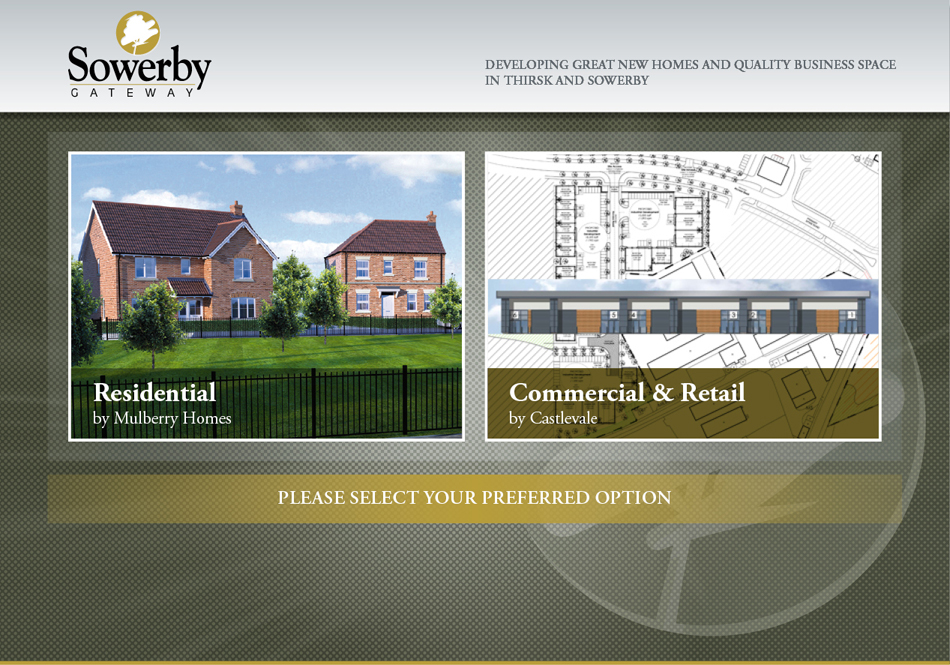Sowerby Gateway Landing Page